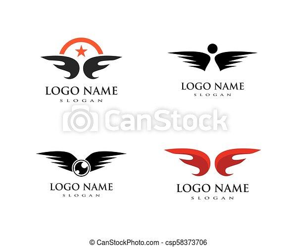 wing logo vector - csp58373706