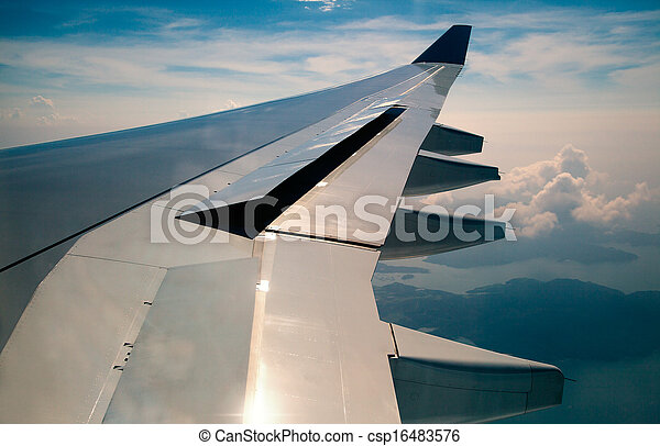 Wing of an airplane - csp16483576