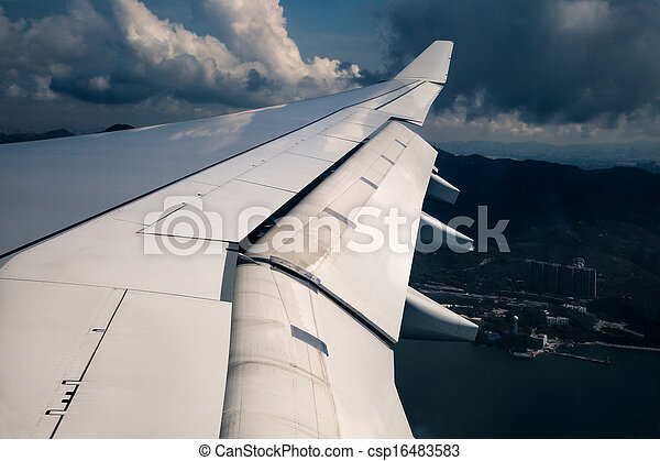 Wing of an airplane - csp16483583