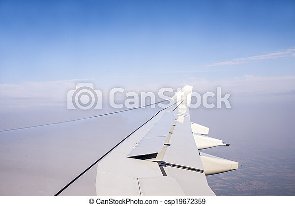 Wing of an airplane - csp19672359