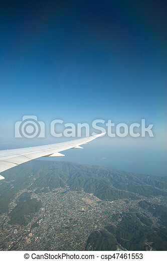 wing of an airplane - csp47461553