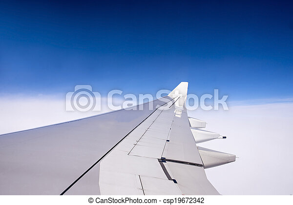 Wing of an airplane - csp19672342