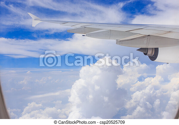 Wing of an airplane - csp20525709