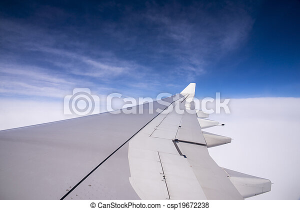 Wing of an airplane - csp19672238