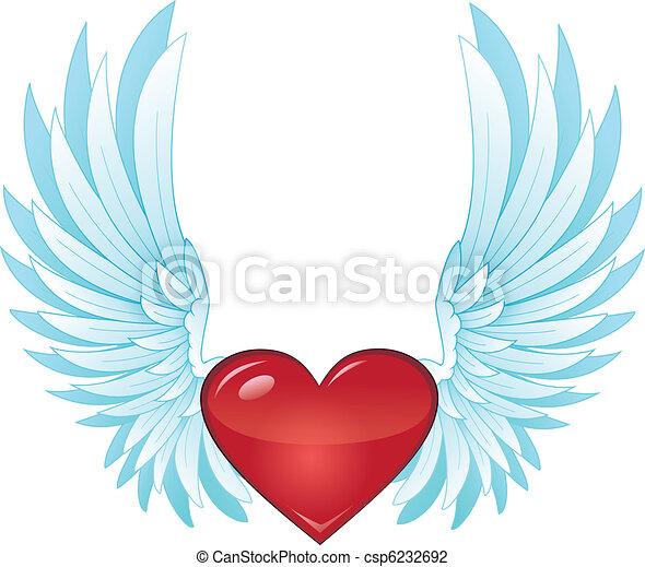 winged, coração - csp6232692