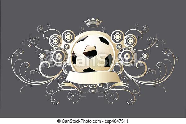 winged soccer emblem - csp4047511