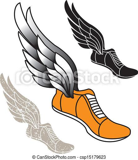 winged Track Shoe - csp15179623