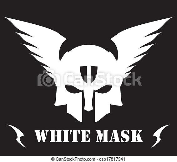 winged white skull mask - csp17817341