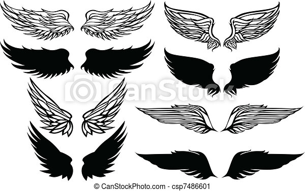 Wings Graphic Vector Set - csp7486601