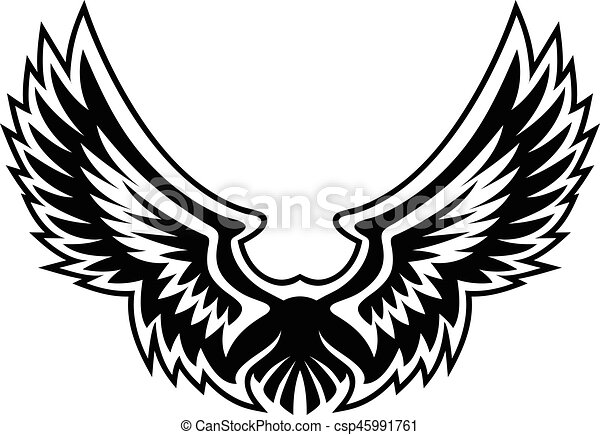wings logo illustration wing logo vector graphic with sharp rh canstockphoto com free vector eagle wings free vector bird wings