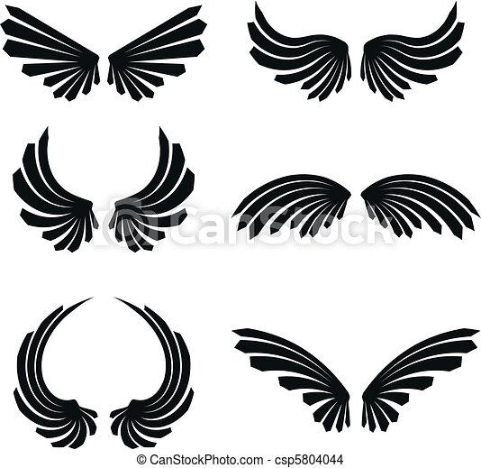 wings set pack5 wings set pack in vector format
