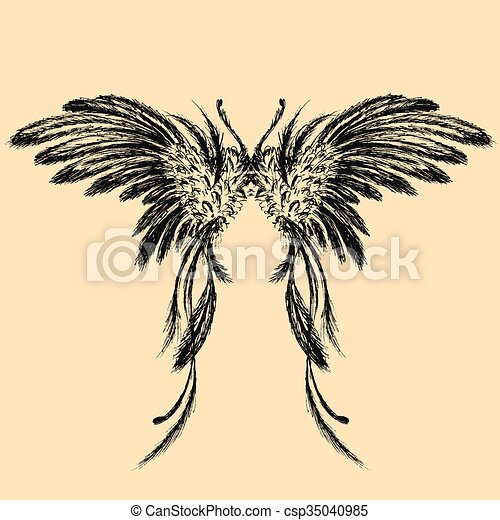Wings vector illustration - csp35040985