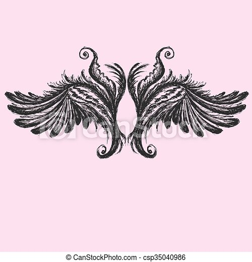 Wings vector illustration. - csp35040986