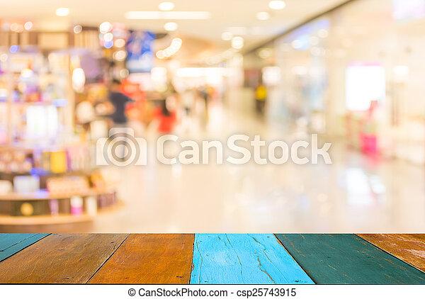 winkel, achtergrond., beeld, detailhandel, vaag - csp25743915