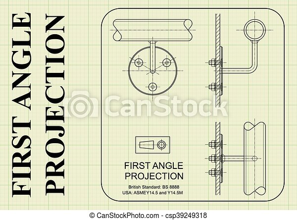 Winkel , projektion, orthographic, zuerst. Winkel , projektion ...