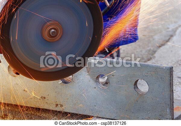 Winkel Schneiden Schleifer Metall Stahlarbeiter Schneiden