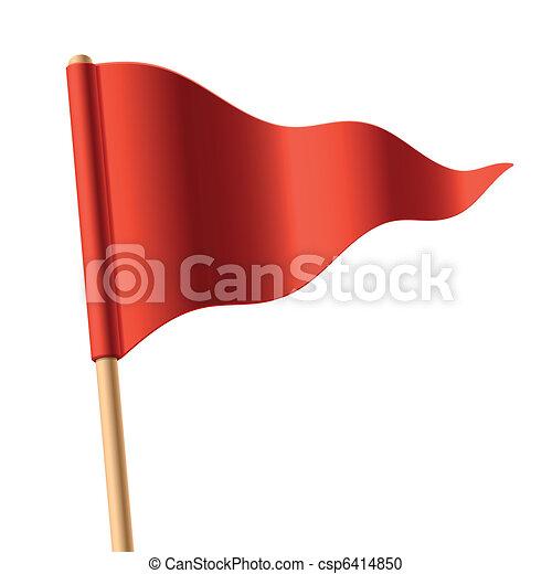 winken markierung, dreieckig, rotes  - csp6414850