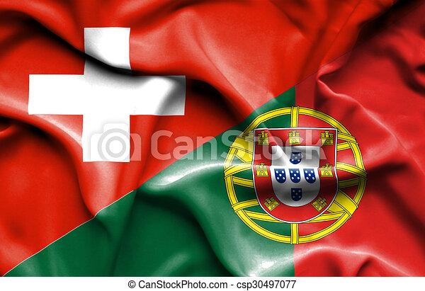 Winkende schweiz markierungsfahne portugal winken - Drapeau portugais a imprimer ...