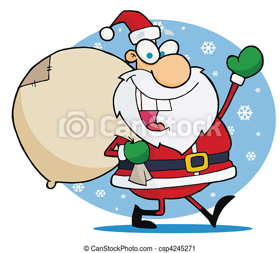 Bilder Weihnachten Lustig.Winkende Weihnachten Santa Lustig