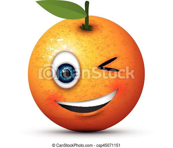 winking emoji - csp45071151