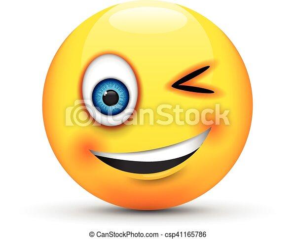 winking emoji - csp41165786