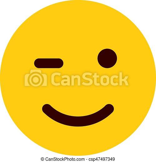 winking emoji - csp47497349