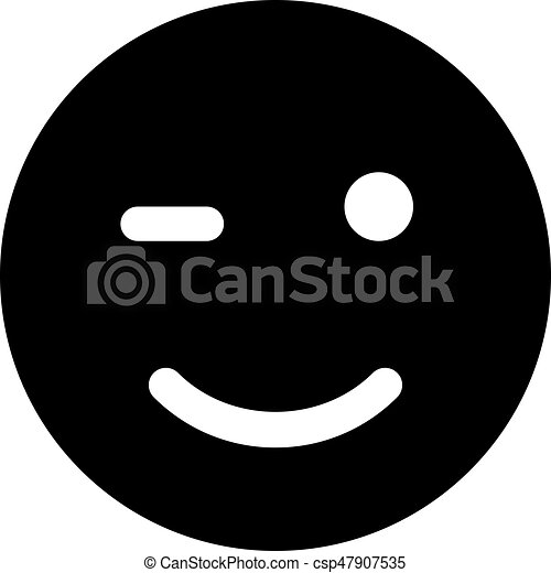 winking emoji - csp47907535