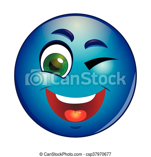 Winking emoticon - csp37970677