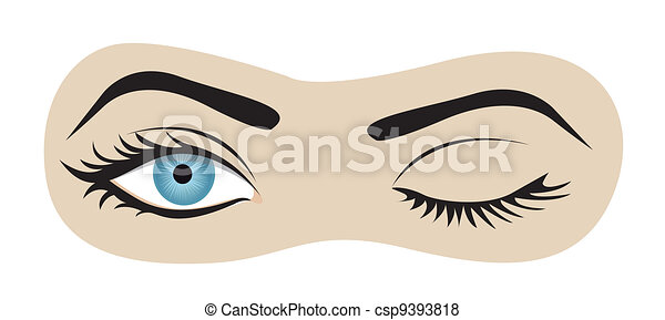 winking eyes - csp9393818