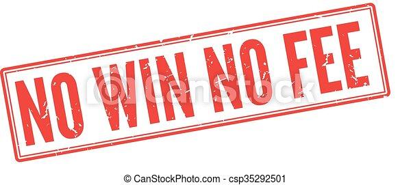 winnen, honorarium, nee - csp35292501