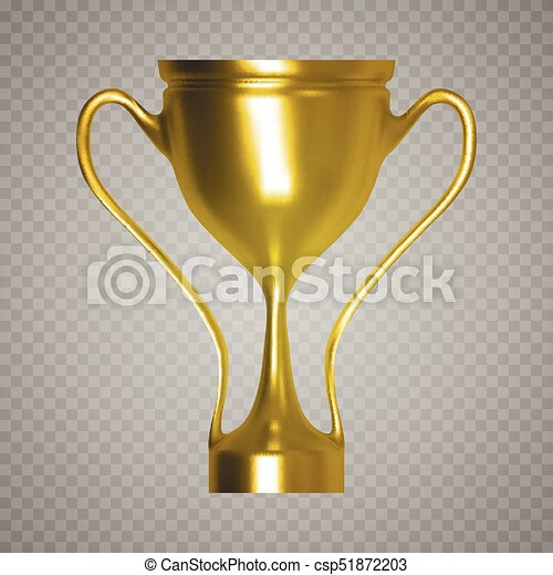 Eps10 Winner Cup Isolated Golden Trophy On Transparent Background Vector Illustration