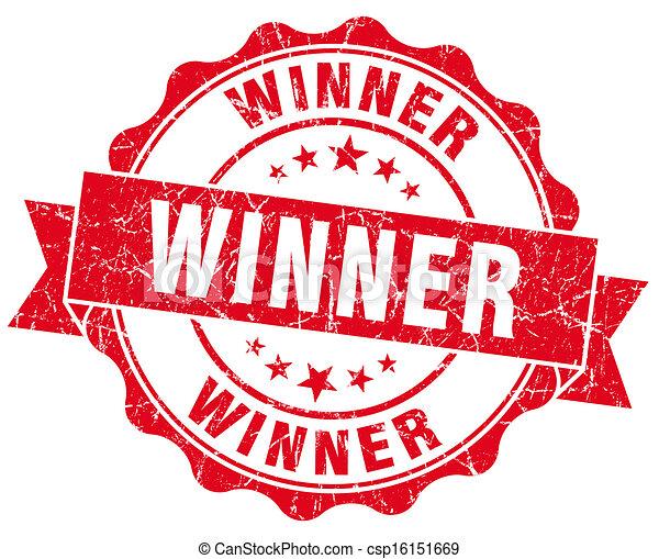 Winner Grunge Stamp - csp16151669