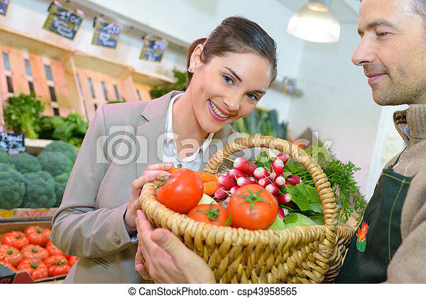 winner of the vegetable raffle - csp43958565
