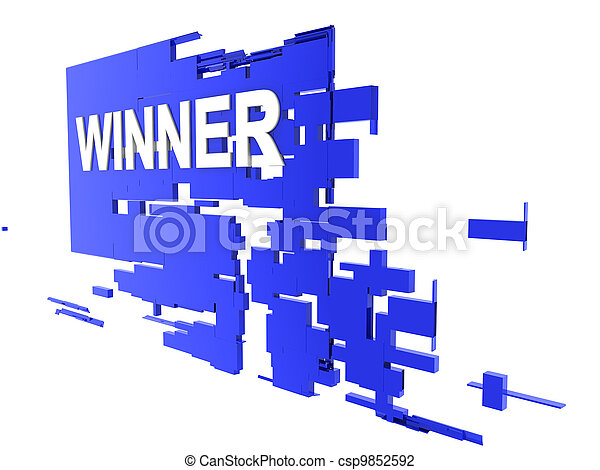 winner on wall - csp9852592
