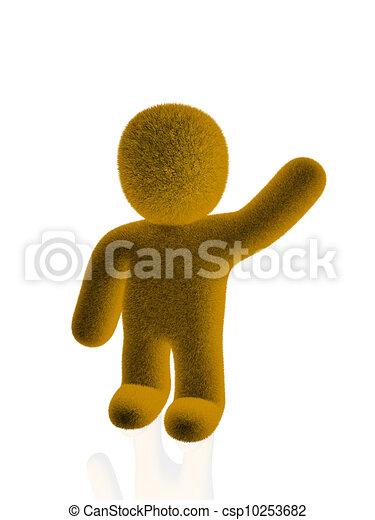 winner orange person - csp10253682