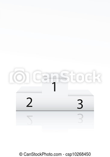 Winner podium with number on white - csp10268450