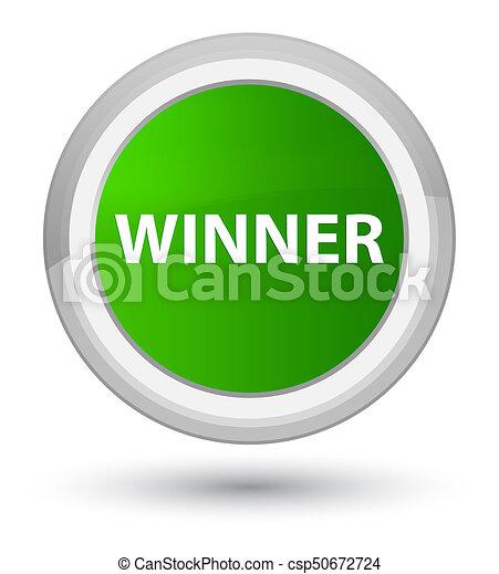 Winner prime green round button - csp50672724