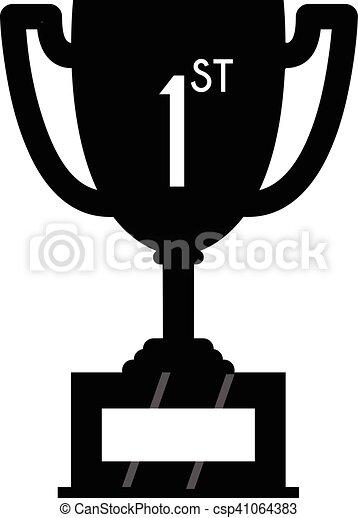 Winner trophy cup icon. sport ...