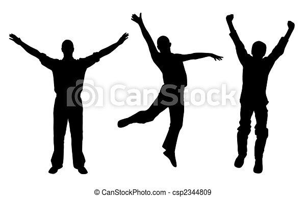Winners and happy men - csp2344809