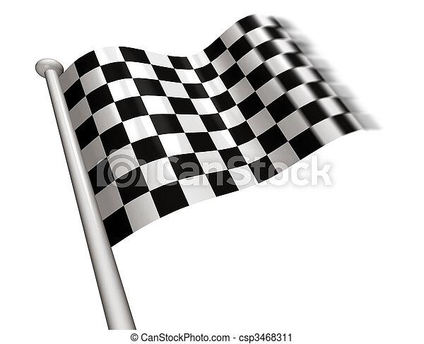 Winner's chequered flag - csp3468311