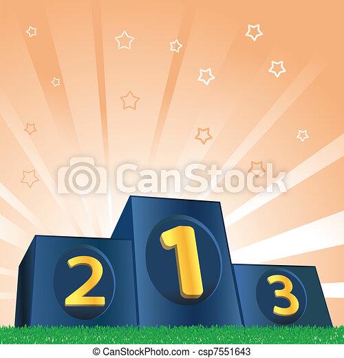 Winners Podium - csp7551643