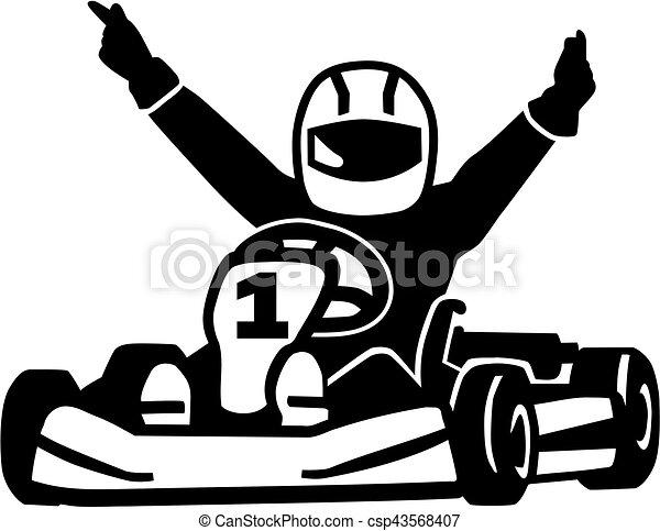 Winning kart racer - csp43568407