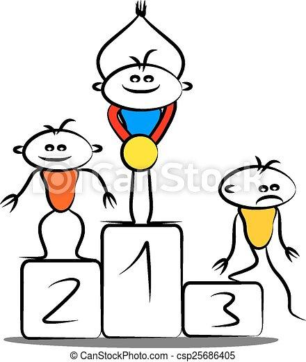 Winning podium - csp25686405