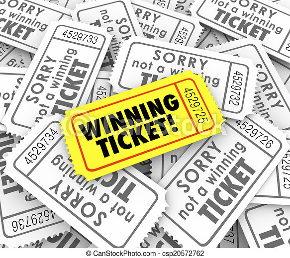 Winning Ticket One Unique Winner Raffle Lottery Prize