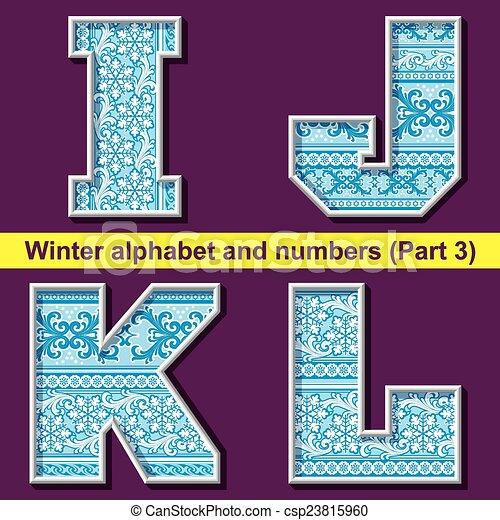 winter ABC. Part 3 - csp23815960