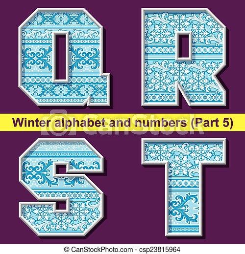 winter ABC. Part 5 - csp23815964