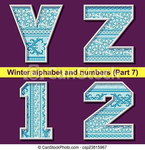 winter ABC. Part 7 - csp23815967