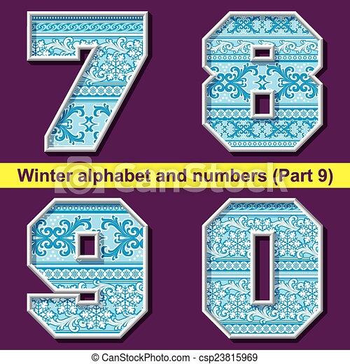 winter ABC. Part 9 - csp23815969