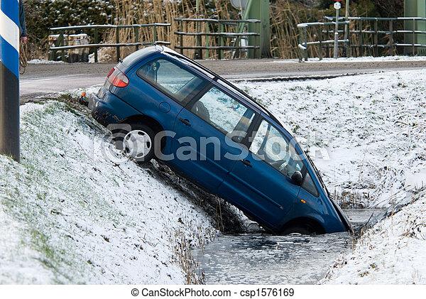 winter accident - csp1576169