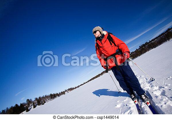 Winter Advture Skiing - csp1449014
